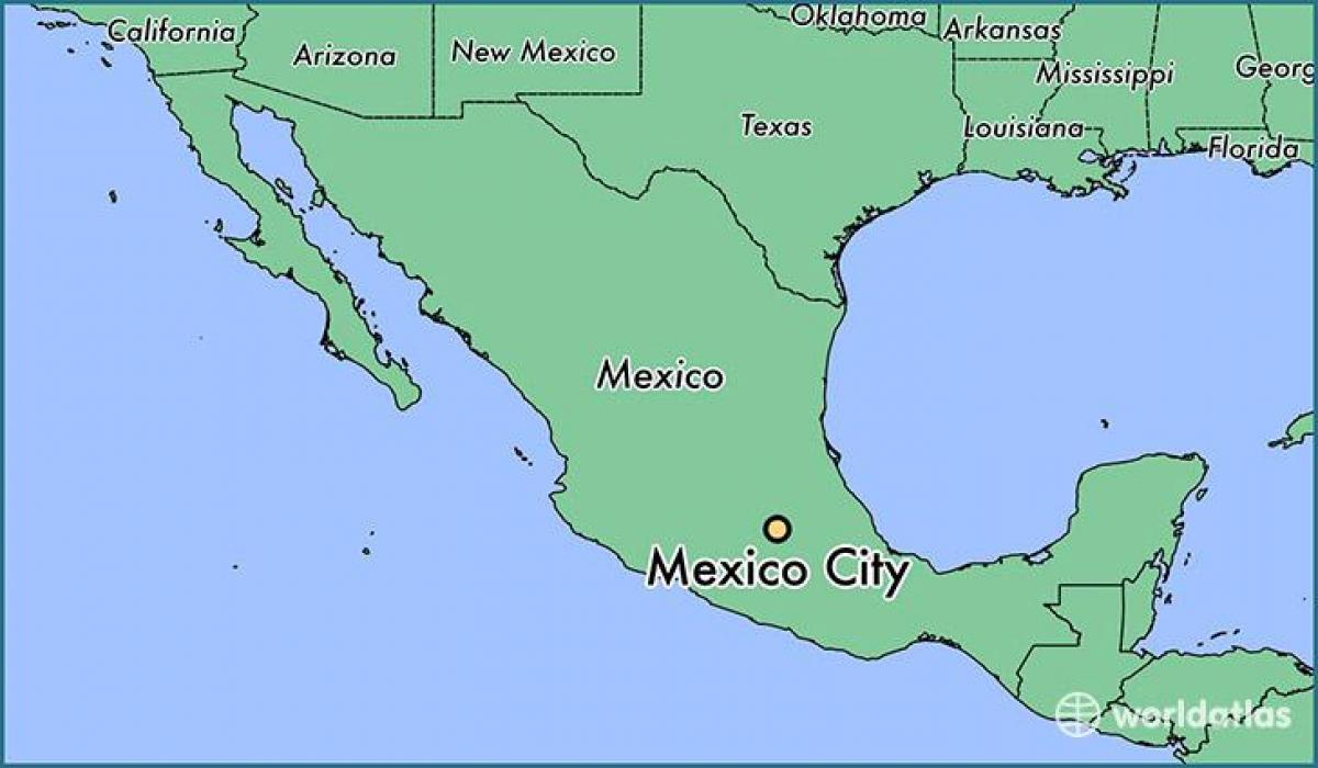 Cidade do méxico mapa - mapa de Cidade do méxico México (México)